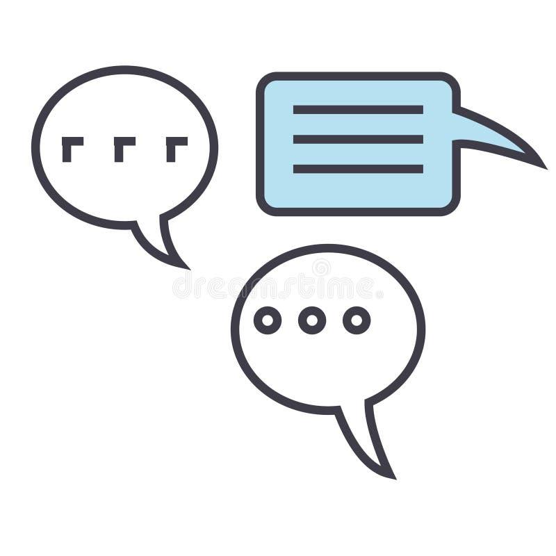 Συνομιλίες, ομιλία, έννοια συζητήσεων ελεύθερη απεικόνιση δικαιώματος
