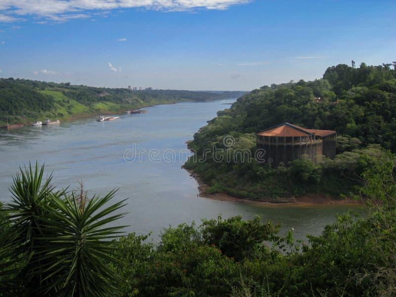 συνοριακό iguassu τρία στοκ φωτογραφίες