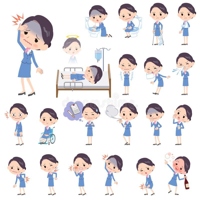 Συνοδευτική μπλε ασθένεια γυναικών καμπινών ελεύθερη απεικόνιση δικαιώματος