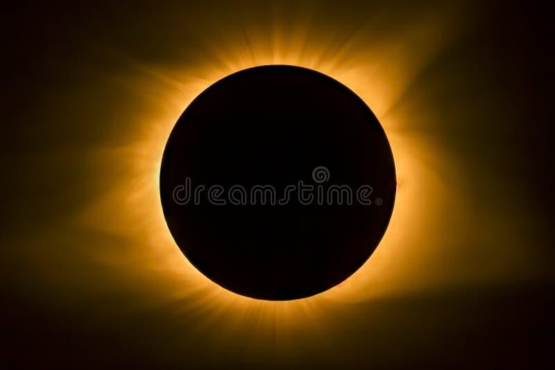 Συνολική ηλιακή κορώνα έκλειψης στοκ εικόνα