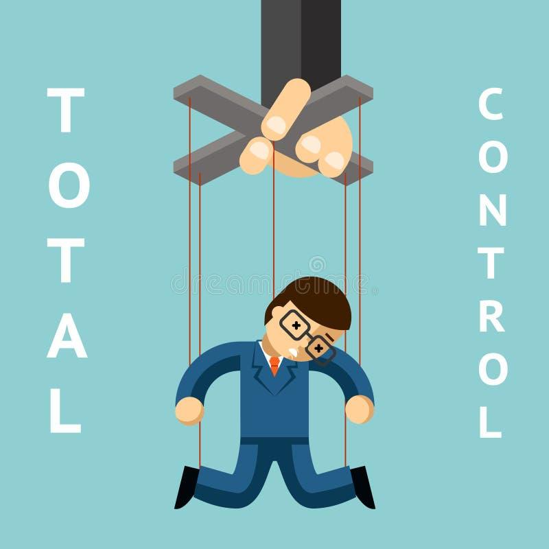 Συνολικός έλεγχος Μαριονέτα επιχειρηματιών ελεύθερη απεικόνιση δικαιώματος