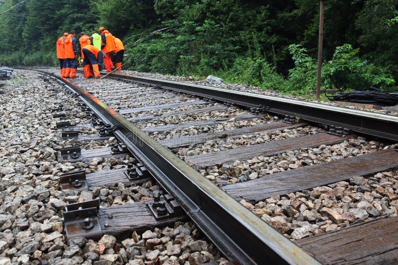 Συντήρηση του σιδηροδρόμου στοκ εικόνα