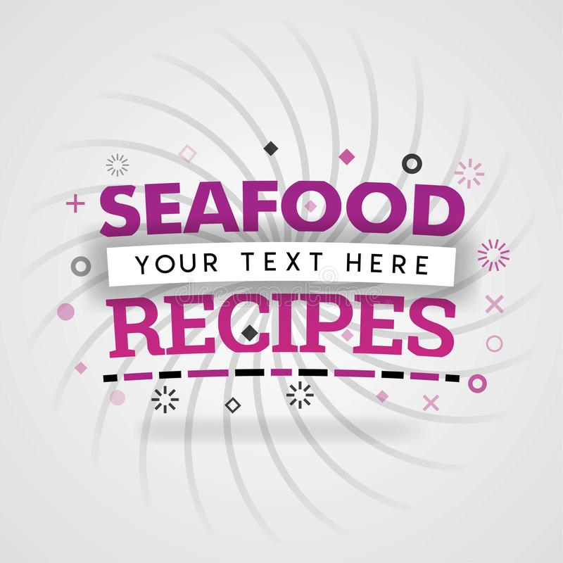 Συνταγές θαλασσινών για το κόμμα και την ιαπωνική ακατέργαστη κουζίνα απεικόνιση αποθεμάτων