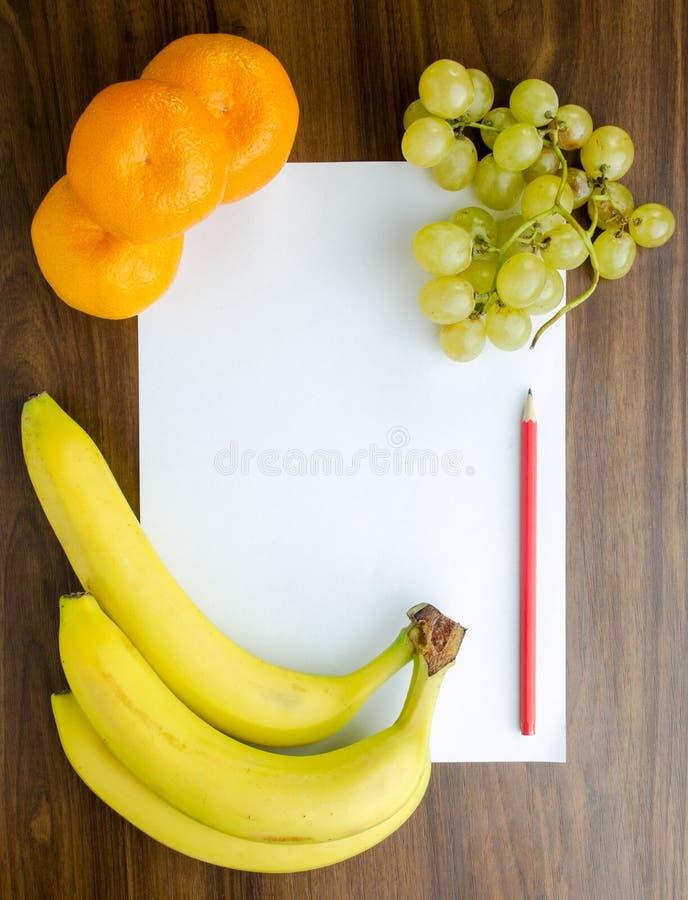 Συνταγή επιδορπίων καρπού στοκ εικόνες