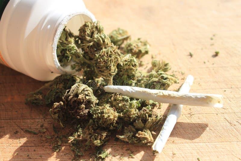 συνταγή μαριχουάνα στοκ εικόνα