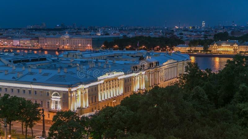 Συνταγματικό Δικαστήριο της Ρωσικής Ομοσπονδίας timelapse στην Αγία Πετρούπολη, Ρωσία φιλμ μικρού μήκους