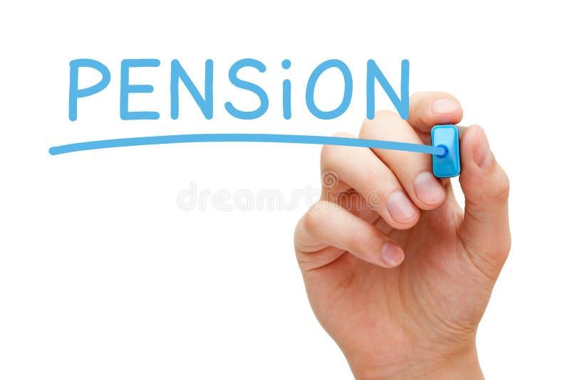 Συνταξιοδοτικός μπλε δείκτης στοκ φωτογραφία με δικαίωμα ελεύθερης χρήσης