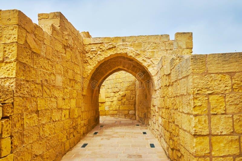 Συντηρημένα κτήρια στην ακρόπολη της Rabat, Gozo, Μάλτα στοκ φωτογραφίες με δικαίωμα ελεύθερης χρήσης