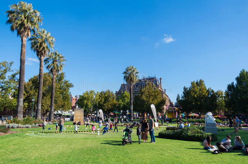 Συντηρητικοί κήποι σε Bendigo, Αυστραλία στοκ φωτογραφία