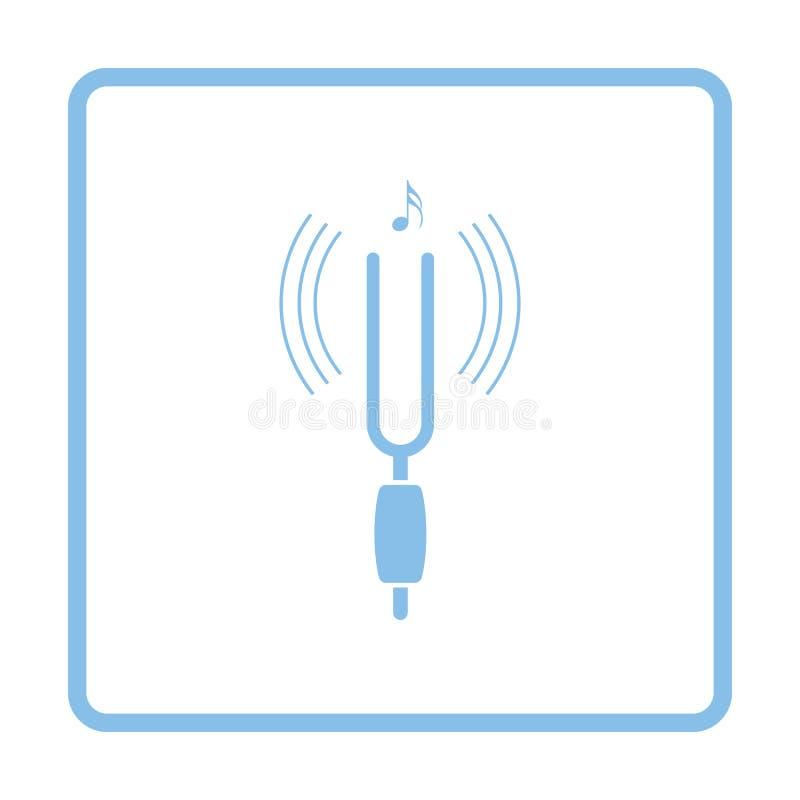 Συντονισμός - εικονίδιο δικράνων διανυσματική απεικόνιση