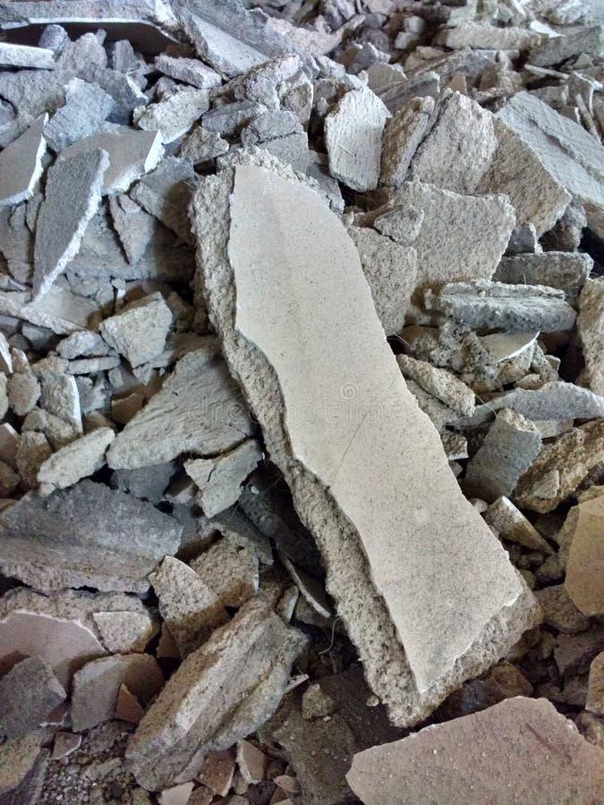 Συντρίμμια από το πρόγραμμα εγχώριας ανακαίνισης, συγκεκριμένα ερείπια στοκ φωτογραφία με δικαίωμα ελεύθερης χρήσης