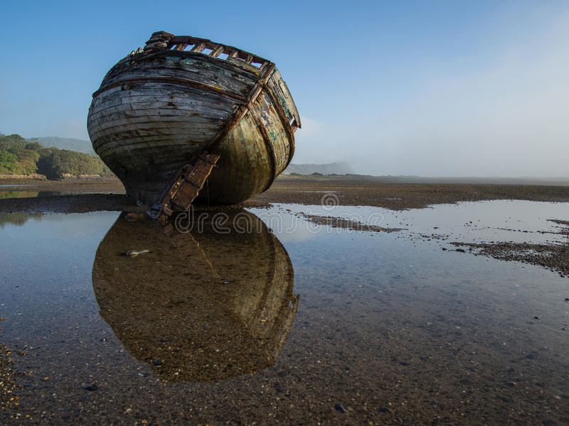 Συντρίμμια σκαφών εκβολών Dulas στοκ εικόνες με δικαίωμα ελεύθερης χρήσης