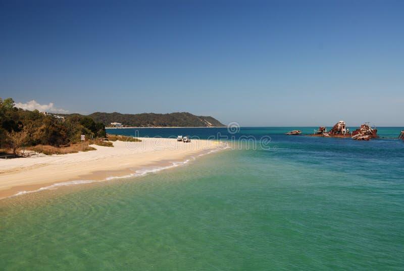 συντρίμμια tangalooma νησιών moreton στοκ φωτογραφία με δικαίωμα ελεύθερης χρήσης