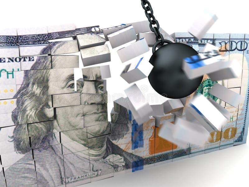 Συντριβή χρημάτων απεικόνιση αποθεμάτων