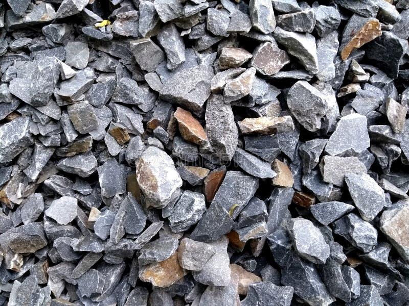 Συντριμμένος μακρο στενός επάνω σωρών τσιπ πετρών στοκ εικόνες με δικαίωμα ελεύθερης χρήσης