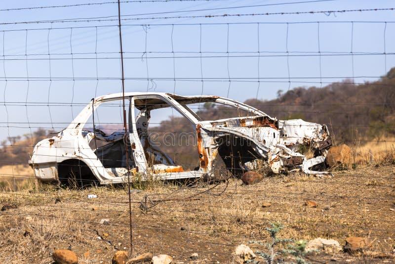 Συντριφθε'ντα αυτοκίνητο συντρίμμια στοκ εικόνα με δικαίωμα ελεύθερης χρήσης