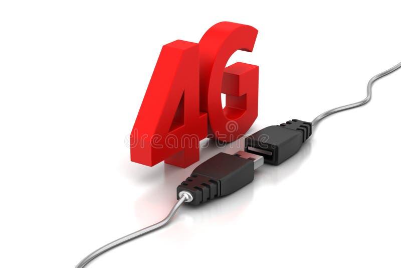 Συνδέοντας καλώδιο με 4g απεικόνιση αποθεμάτων