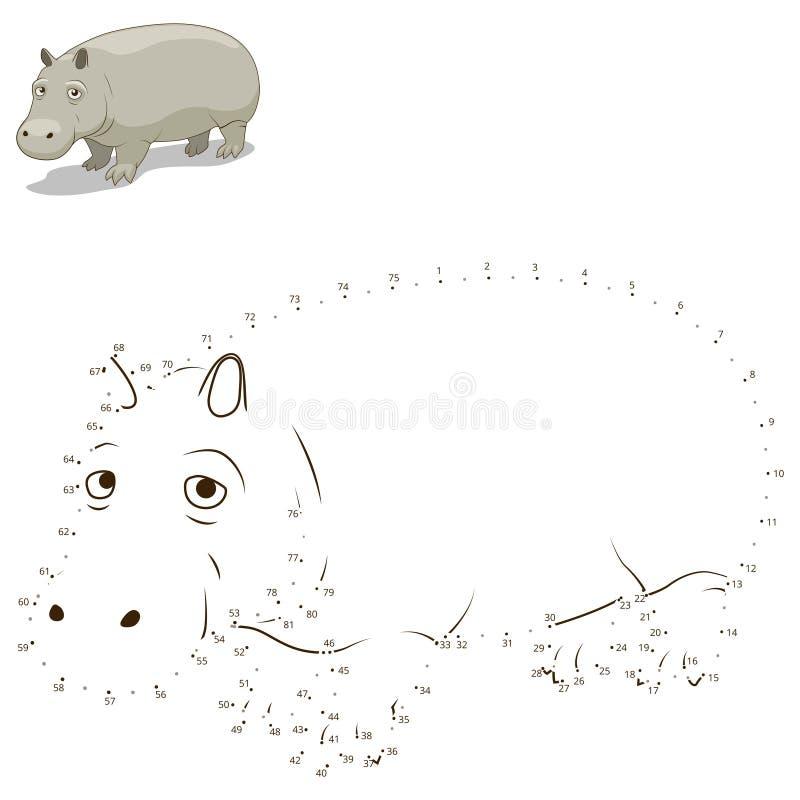 Συνδέστε τα σημεία για να σύρετε το ζωικό εκπαιδευτικό παιχνίδι ελεύθερη απεικόνιση δικαιώματος