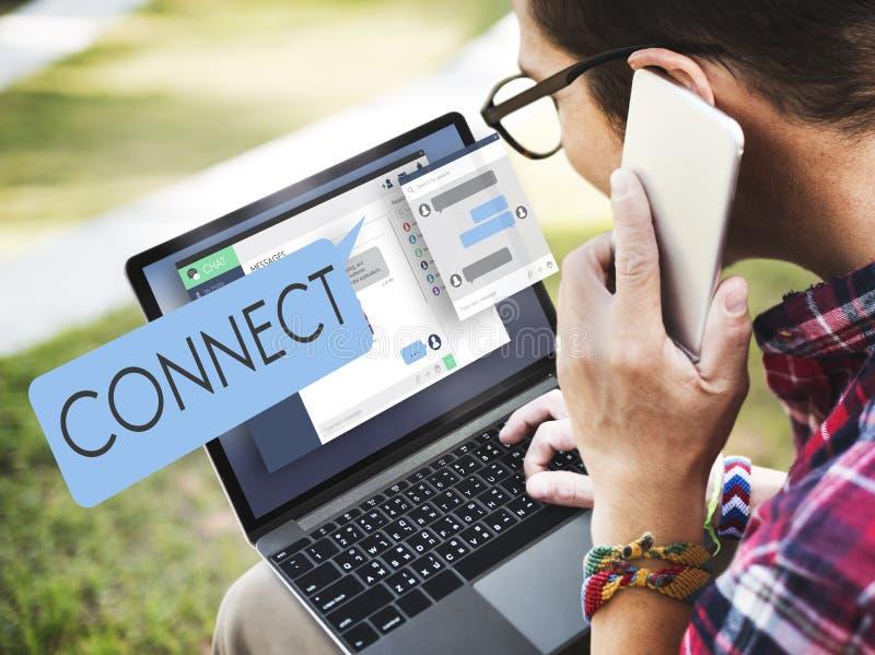 Συνδέστε το δίκτυο πρόσβασης σύνδεσης ενώνει την έννοια συνδέσεων στοκ εικόνες με δικαίωμα ελεύθερης χρήσης