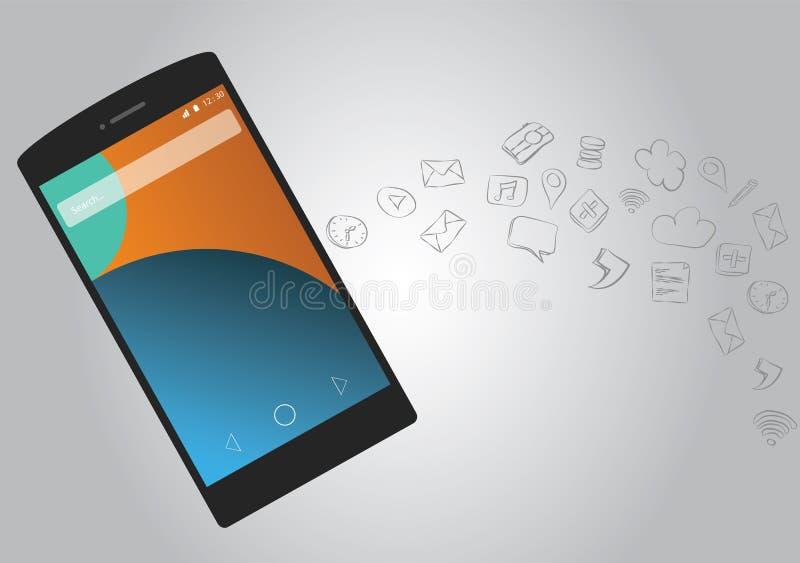 Συνδετικότητα Smartphone ελεύθερη απεικόνιση δικαιώματος