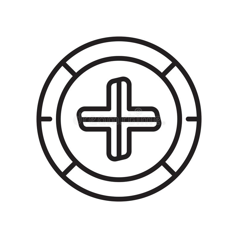 Συν το διαγώνιο σήμα σε ένα τετραγωνικά διανυσματικά σημάδι και ένα σύμβολο εικονιδίων που απομονώνονται στο άσπρο υπόβαθρο, συν  διανυσματική απεικόνιση