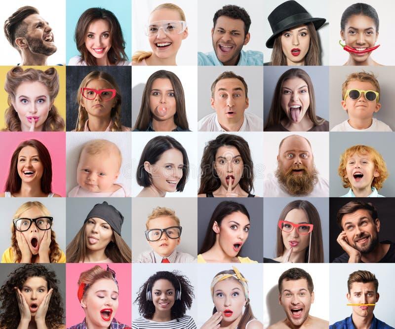 Συνδυασμός ευτυχών και συγκλονισμένων ανθρώπων στοκ φωτογραφία με δικαίωμα ελεύθερης χρήσης