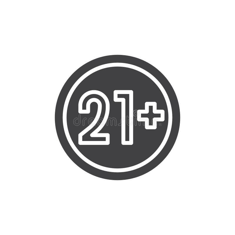 21 συν υπογράφουν χρονών το διανυσματικό εικονίδιο ελεύθερη απεικόνιση δικαιώματος