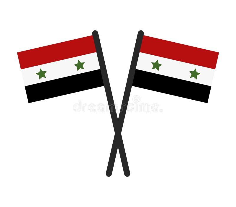 Συριακή σημαία διανυσματική απεικόνιση