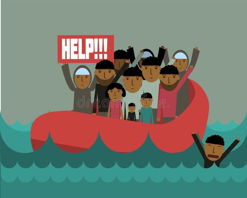 Συριακοί πρόσφυγες απεικόνιση αποθεμάτων