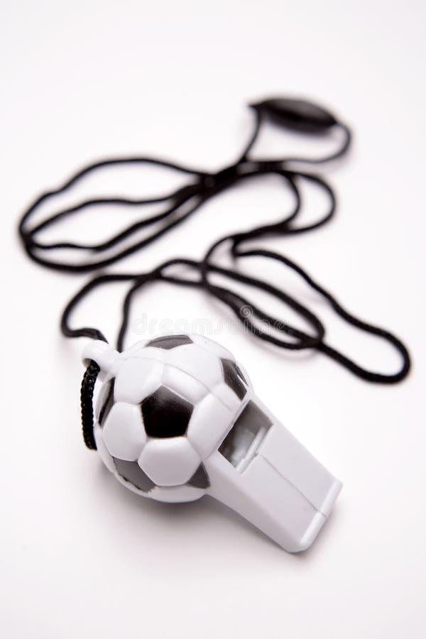 συριγμός ποδοσφαίρου στοκ εικόνες