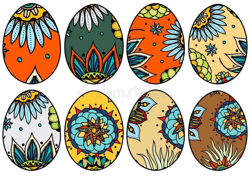 Συρμένα χέρι αυγά Πάσχας ελεύθερη απεικόνιση δικαιώματος