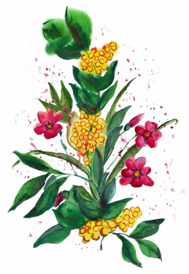 Συρμένα χέρι λουλούδια εικόνων ελεύθερη απεικόνιση δικαιώματος