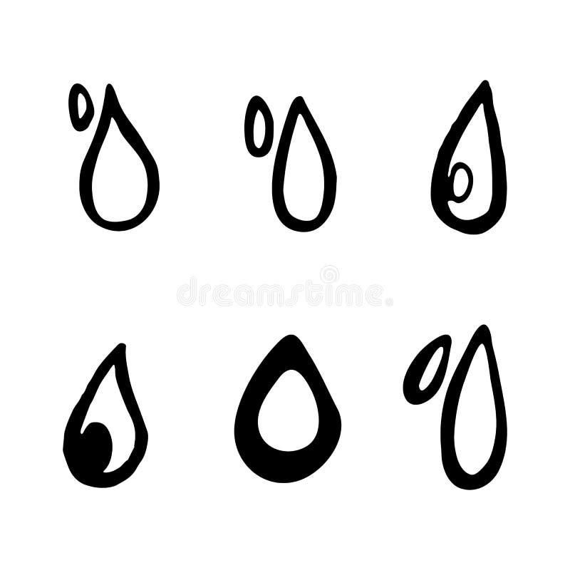 Συρμένες οι χέρι πτώσεις doodles θέτουν Εικονίδια ύφους σκίτσων Διακόσμηση Ele απεικόνιση αποθεμάτων