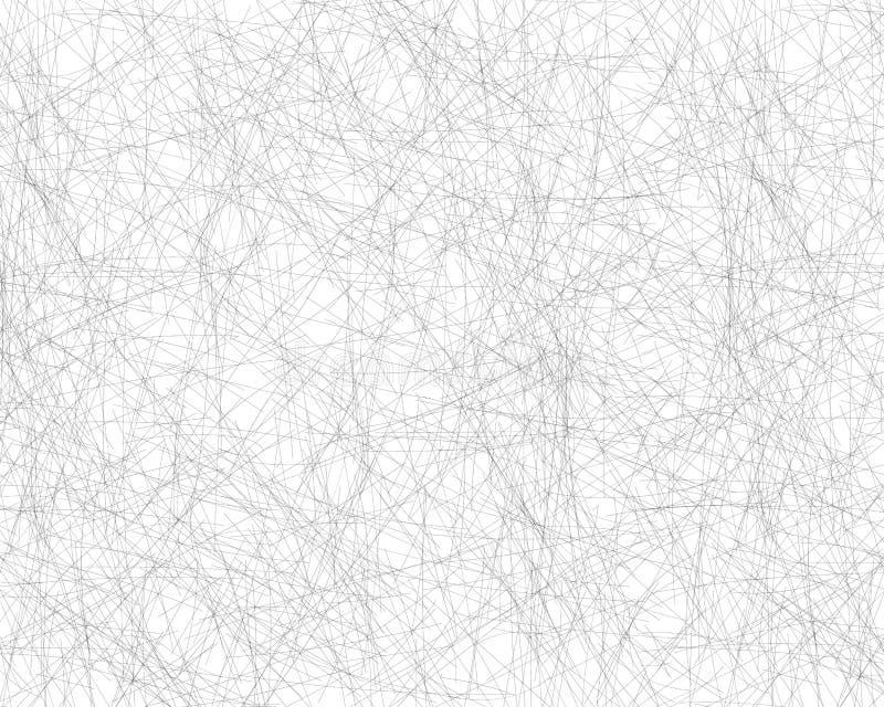 Συρμένες χέρι χαοτικές γραμμές που εκκολάπτουν με ένα μολύβι Πλάγια γκρίζα λεπτή κακογραφία, Doodle, επίχρισμα Διανυσματική επικά απεικόνιση αποθεμάτων
