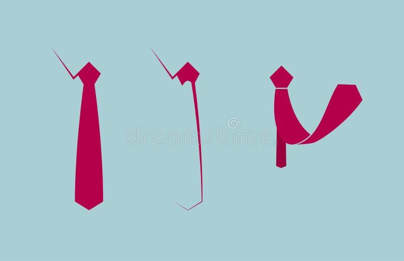 Συρμένη διάνυσμα γραβάτα ελεύθερη απεικόνιση δικαιώματος