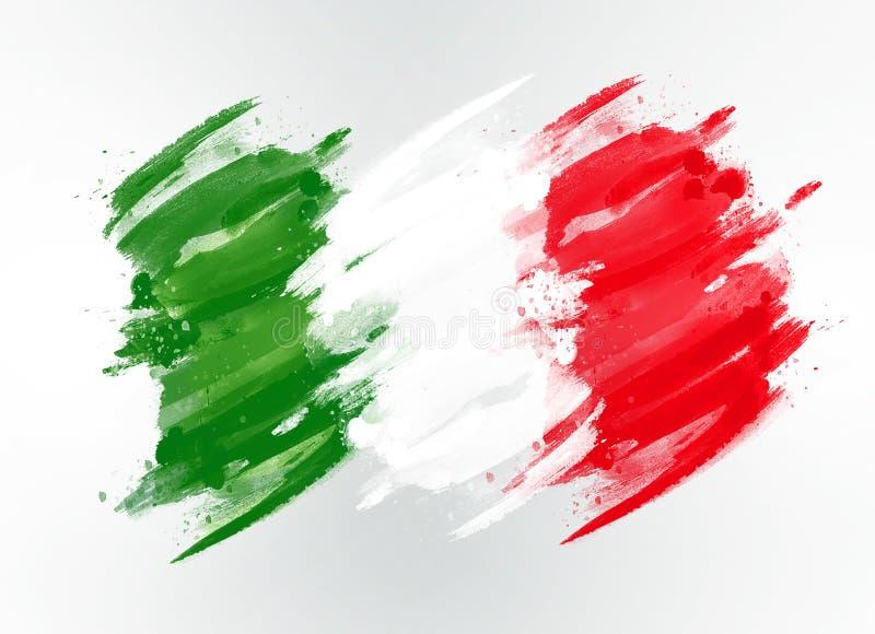συρμένη σημαία Ιταλία στοκ φωτογραφία με δικαίωμα ελεύθερης χρήσης