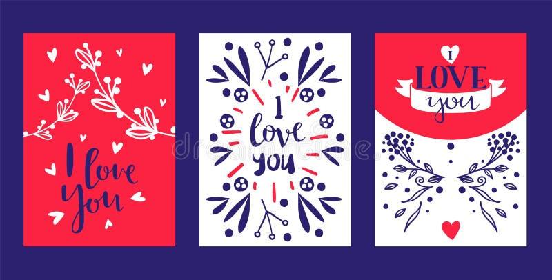 Συρμένη χέρι αγάπη κειμένων καλλιγραφίας εσείς για την ημέρα βαλεντίνων, το γάμο, τη χρονολόγηση και άλλη και άλλο ρομαντικό σύνο ελεύθερη απεικόνιση δικαιώματος