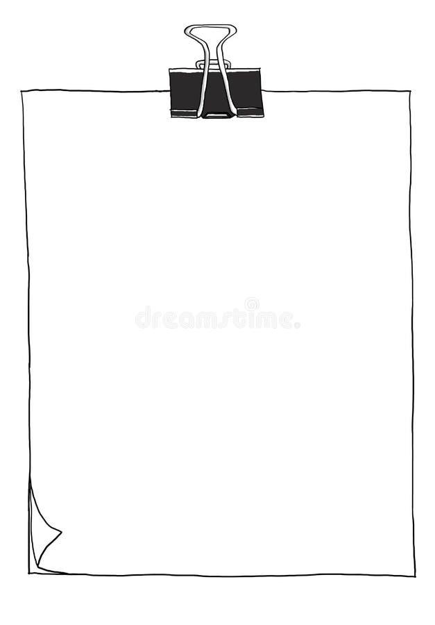 Συρμένη χέρι απεικόνιση τέχνης γραμμών εγγράφου χαριτωμένη απεικόνιση αποθεμάτων