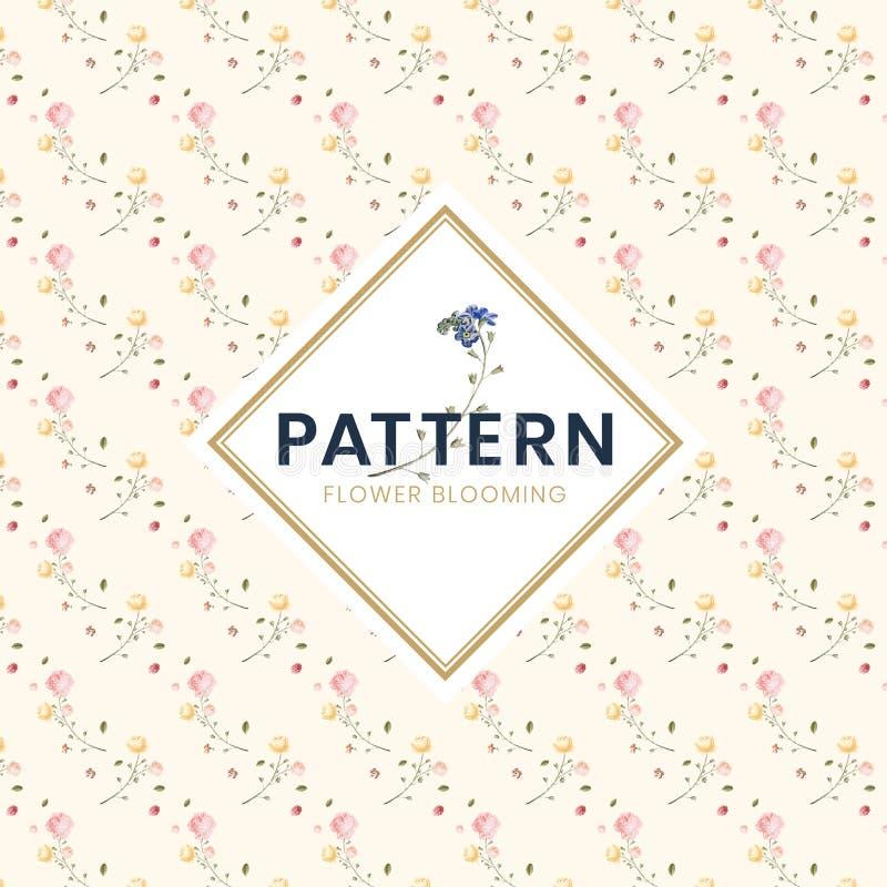 Συρμένη χέρι ζωηρόχρωμη floral απεικόνιση σχεδίων διανυσματική απεικόνιση