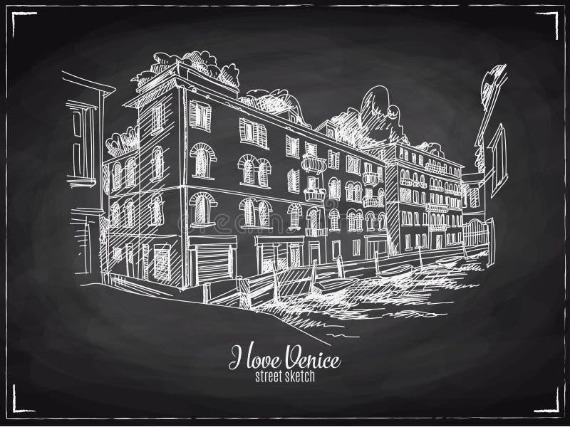 Συρμένη χέρι διανυσματική απεικόνιση Βενετία διανυσματική απεικόνιση