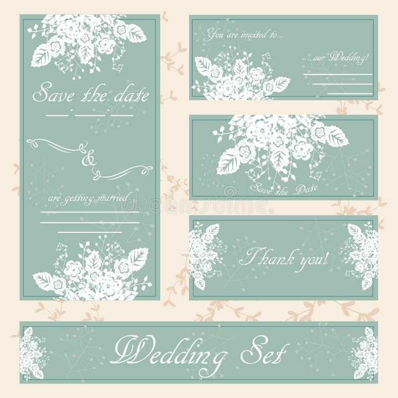 Συρμένη χέρι κάρτα γαμήλιας πρόσκλησης, ύφος boho, διάνυσμα διανυσματική απεικόνιση