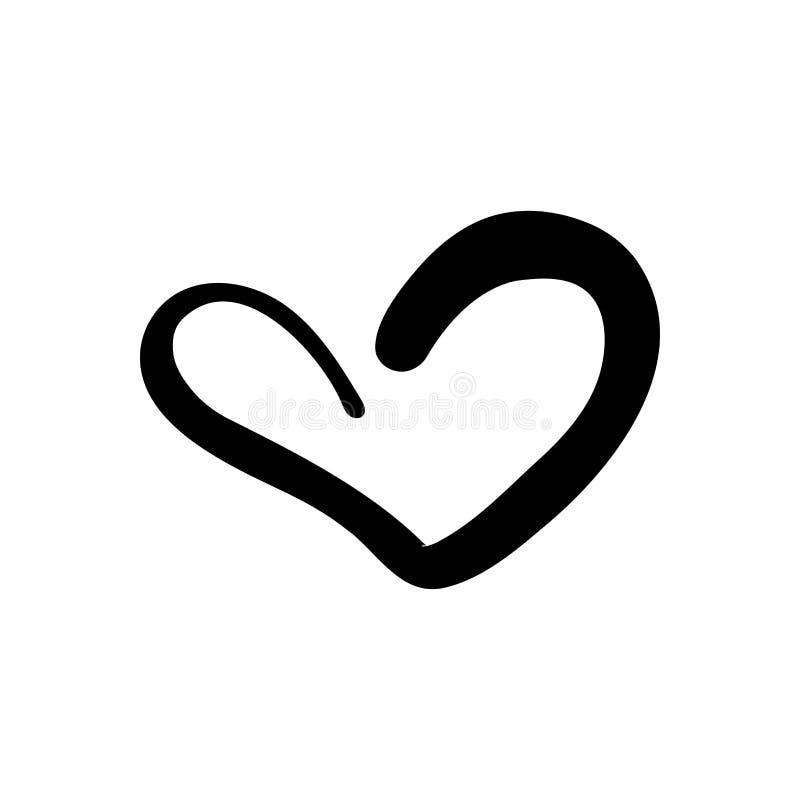 Συρμένη χέρι καρδιά Συρμένη χέρι τραχιά καρδιά δεικτών που απομονώνεται στο άσπρο υπόβαθρο Απεικόνιση για γραφικό σας ελεύθερη απεικόνιση δικαιώματος