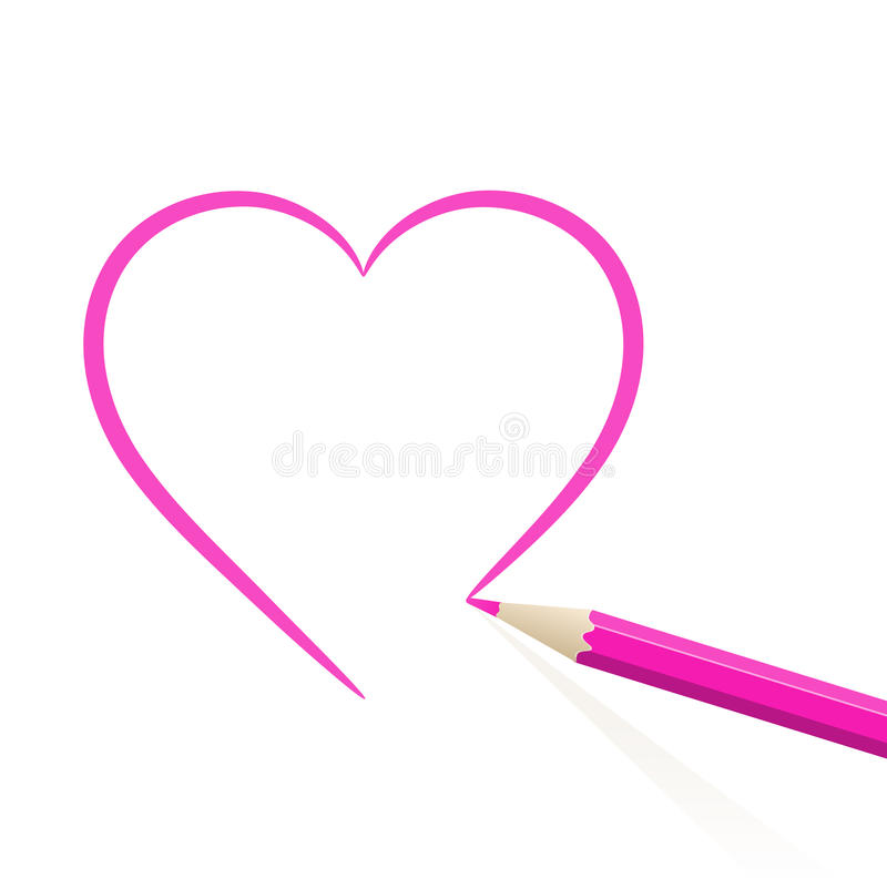 Συρμένη χέρι καρδιά απεικόνιση αποθεμάτων