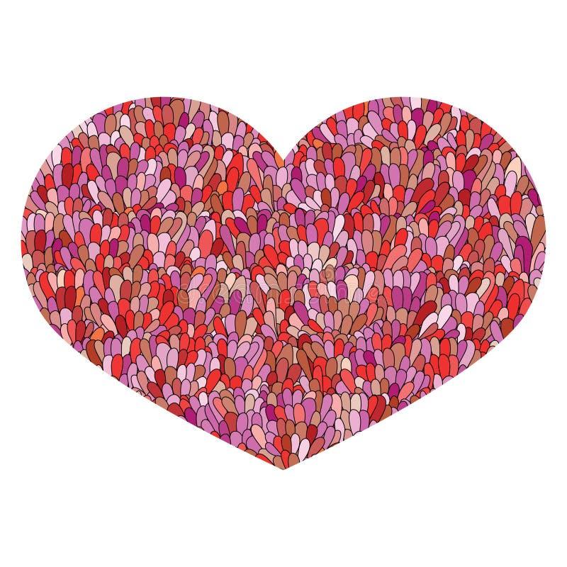 Συρμένη χέρι καρδιά που απομονώνεται στο άσπρο υπόβαθρο Εικόνα αγάπης Doodl ελεύθερη απεικόνιση δικαιώματος