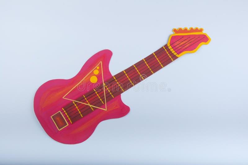 Συρμένη χέρι κιθάρα στο άσπρο υπόβαθρο στοκ εικόνες με δικαίωμα ελεύθερης χρήσης
