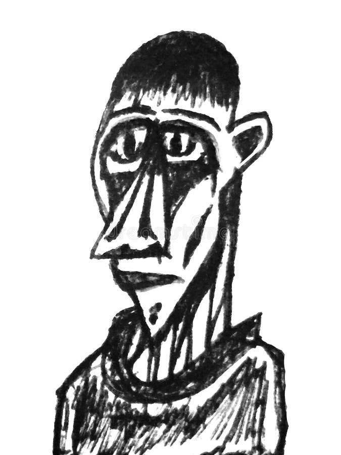 Συρμένη χέρι λεπτή απεικόνιση πορτρέτου ατόμων απεικόνιση αποθεμάτων