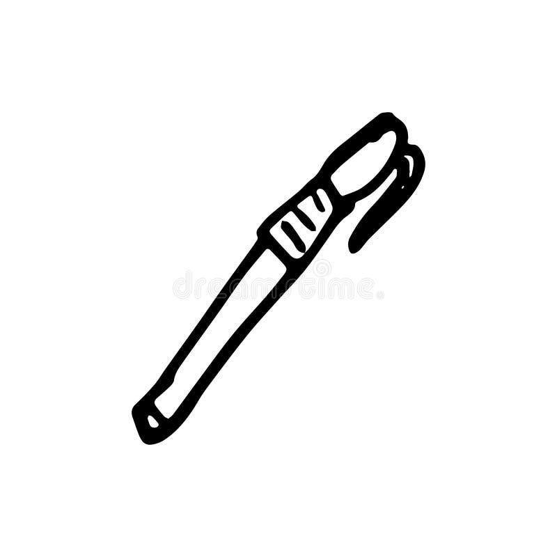 Συρμένη χέρι μάνδρα doodle Εικονίδιο ύφους σκίτσων Στοιχείο διακοσμήσεων Είναι ελεύθερη απεικόνιση δικαιώματος