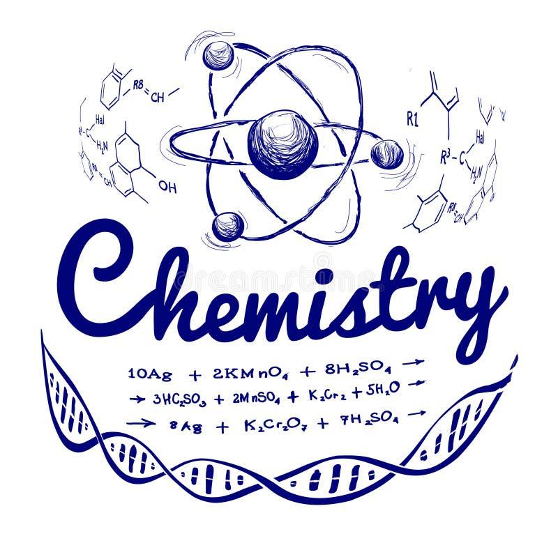 Συρμένη χέρι χημεία απεικόνιση αποθεμάτων