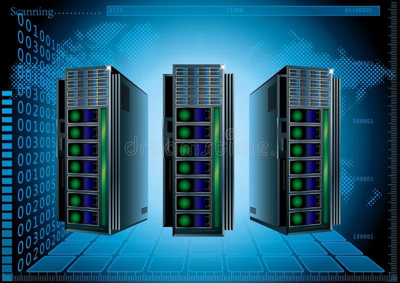 Συρμένος διάνυσμα κεντρικός υπολογιστής δικτύου απεικόνιση αποθεμάτων