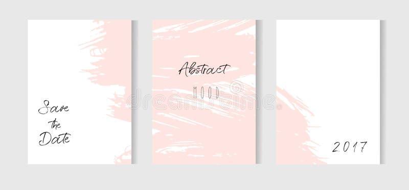 Συρμένος χέρι διανυσματικός αφηρημένος δημιουργικός ασυνήθιστος απλός εκτός από τη συλλογή προτύπων καρτών ημερομηνίας θέτει με τ ελεύθερη απεικόνιση δικαιώματος